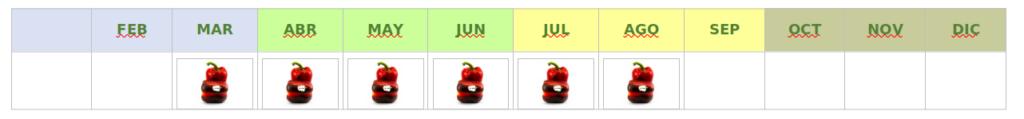 calendario california rojo